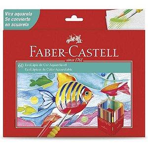 Lápis de Cor Faber-Castell Aquarelável - 60 Cores