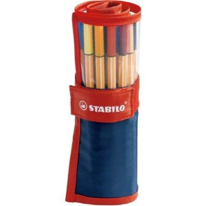 Kit Roller Set Stabilo Point 88 - 25 Cores