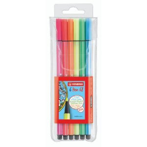 Stabilo Pen-68 Neon - Kit 6 Cores