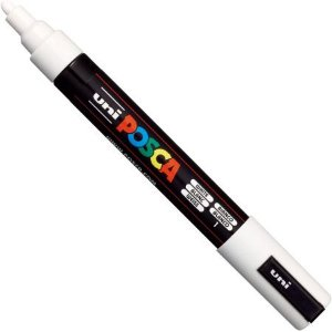 Posca PC-5M Bullet Shaped - Branca