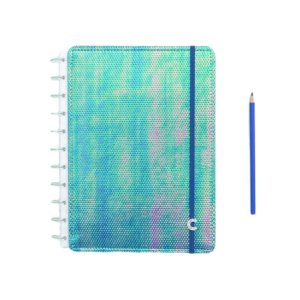 Caderno Inteligente Azul Holográfico - Grande
