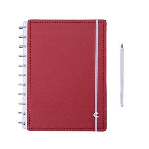 Caderno Inteligente Vermelho Cereja - Grande