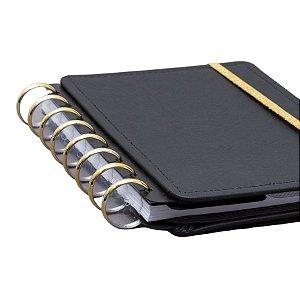 Discos + Elástico Caderno Inteligente - Dourado Grande