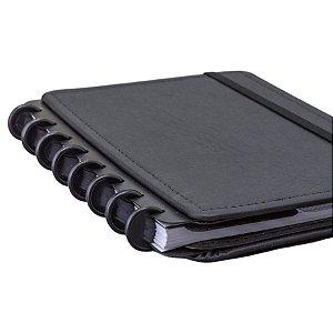 Discos + Elástico Caderno Inteligente - Preto Médio
