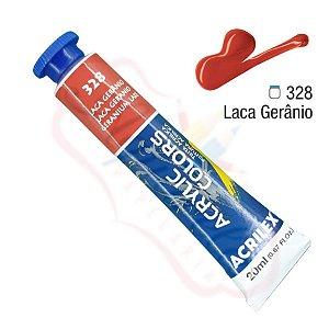 Tinta Acrílica Acrilex 20ml - Laca Gerânio 328