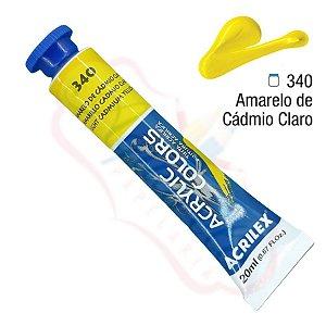 Tinta Acrílica Acrilex 20ml - Amarelo Cádmio Claro 340