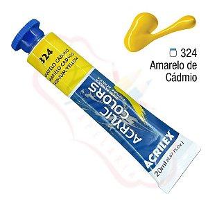 Tinta Acrílica Acrilex 20ml - Amarelo Cádmio 324