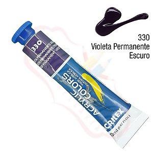 Tinta Acrílica Acrilex 20ml - Violeta Permanente 330