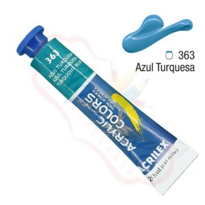 Tinta Acrílica Acrilex 20ml - Azul Turquesa 363