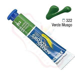 Tinta Acrílica Acrilex 20ml - Verde Musgo 322