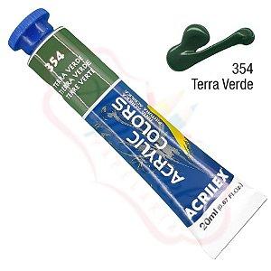 Tinta Acrílica Acrilex 20ml - Terra Verde 354