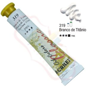 Tinta a óleo Acrilex Classic 20ml - Branco de Titânio 319