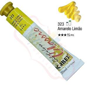 Tinta a óleo Acrilex Classic 20ml - Amarelo Limão 323