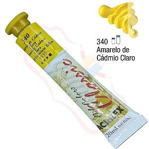 Tinta a óleo Acrilex Classic 20ml - Amarelo de Cádmio Claro 340