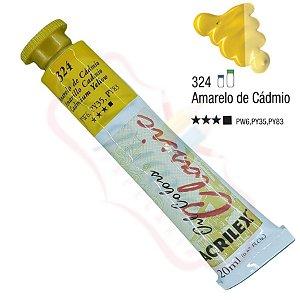 Tinta a óleo Acrilex Classic 20ml - Amarelo de Cádmio 324