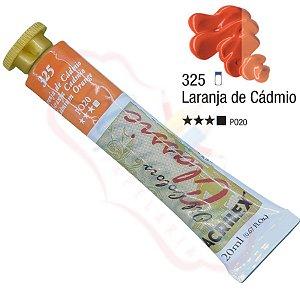 Tinta a óleo Acrilex Classic 20ml - Laranja de Cádmio 325