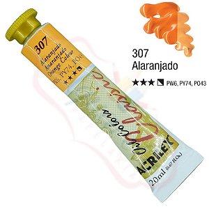 Tinta a óleo Acrilex Classic 20ml - Alaranjado 307