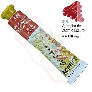 Tinta a óleo Acrilex Classic 20ml - Vermelho Cádmio Escuro 344