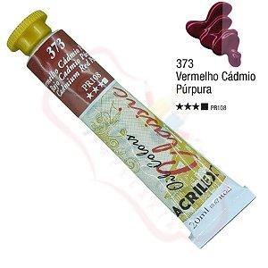 Tinta a óleo Acrilex Classic 20ml - Vermelho Cádmio Púrpura 373