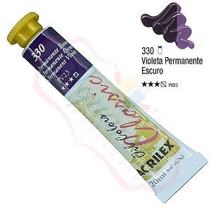 Tinta a óleo Acrilex Classic 20ml - Violeta Permanente Escuro 330