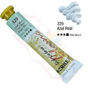 Tinta a óleo Acrilex Classic 20ml - Azul Real 329