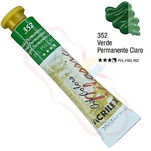 Tinta a óleo Acrilex Classic 20ml - Verde Permanente Claro 352