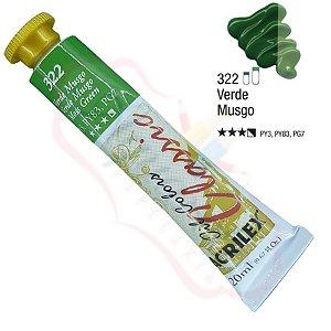 Tinta a óleo Acrilex Classic 20ml - Verde Musgo 322
