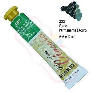 Tinta a óleo Acrilex Classic 20ml - Verde Permanente Escuro 332
