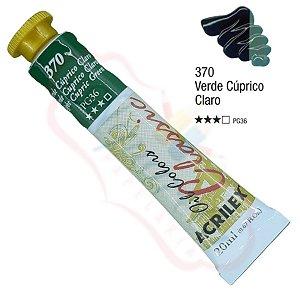 Tinta a óleo Acrilex Classic 20ml - Verde Cúprico Claro 370