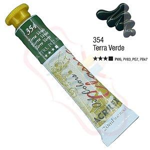 Tinta a óleo Acrilex Classic 20ml - Terra Verde 354