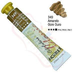 Tinta a óleo Acrilex Classic 20ml - Amarelo Ocre Ouro 349