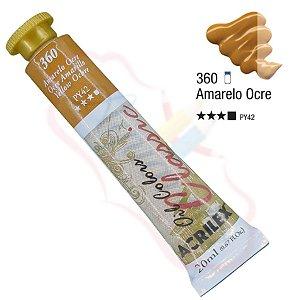 Tinta a óleo Acrilex Classic 20ml - Amarelo Ocre 360