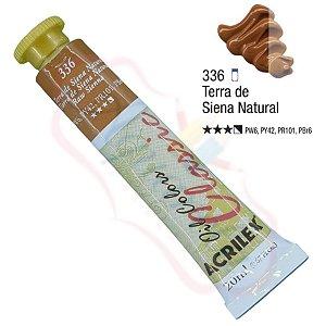 Tinta a óleo Acrilex Classic 20ml - Terra de Siena Natural 336