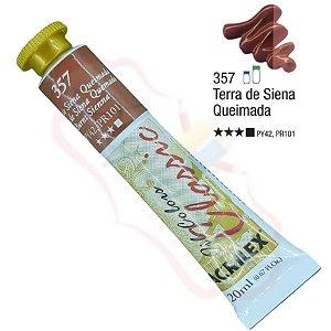 Tinta a óleo Acrilex Classic 20ml - Terra de Siena Queimada 357