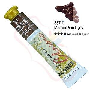 Tinta a óleo Acrilex Classic 20ml - Marrom Van Dyck