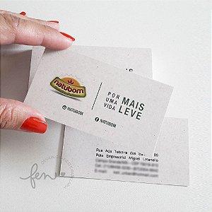 Cartão de Visita em Papel Reciclato