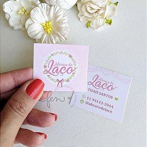 Mini Cartão com Verniz Local Frente