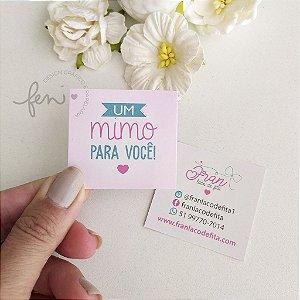 Mini Cartão com Laminação Fosca e Verniz Local