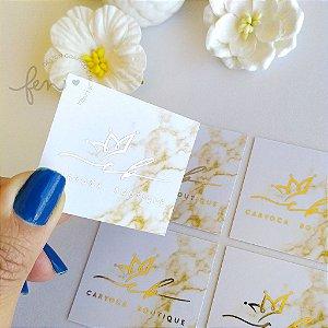 Mini Cartão com Hotstamping Dourado