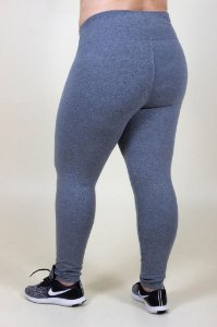 Legging cinza lisa plus size