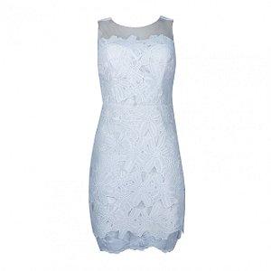 Vestido de festa em renda anemess - cor off white