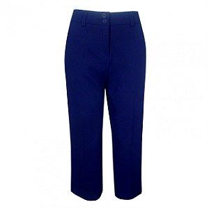 Calça pantacourt amíssima cor azul marinho
