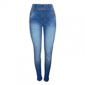 Calça jeans super skinny cós alto dimy