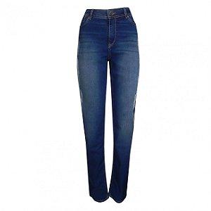 Calça jeans em algodão cigarette scalon