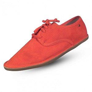 Sapato em couro camurça parô  cor cenoura