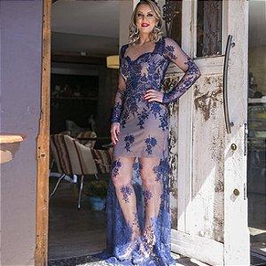 Vestido longo de festa camila siqueira
