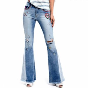 Calça jeans flare hippie its & co