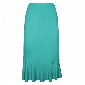Saia em viscose cotton colors cor verde -  tamanhos grandes