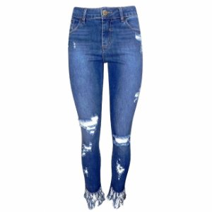 Calça jeans skinny its &co - destroyed