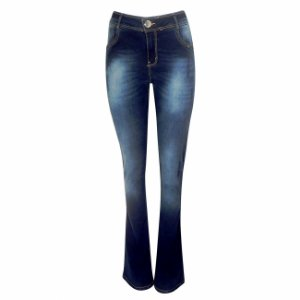 Calça jeans boot cut camili dimy